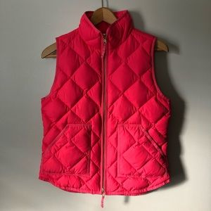 J. Crew Quilted Puffer Vest Pink S